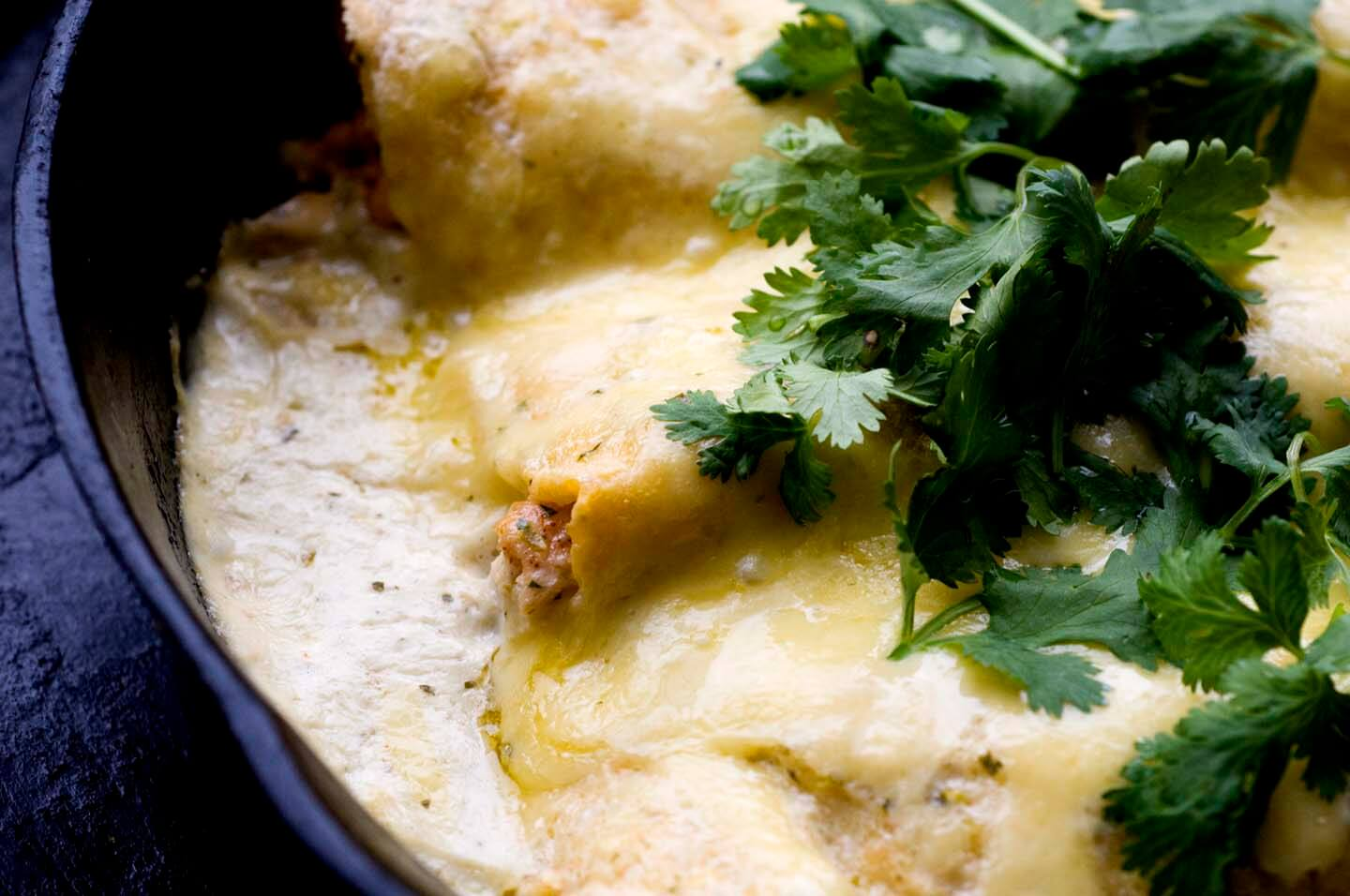 Sour cream chicken enchiladas | Homesick Texan