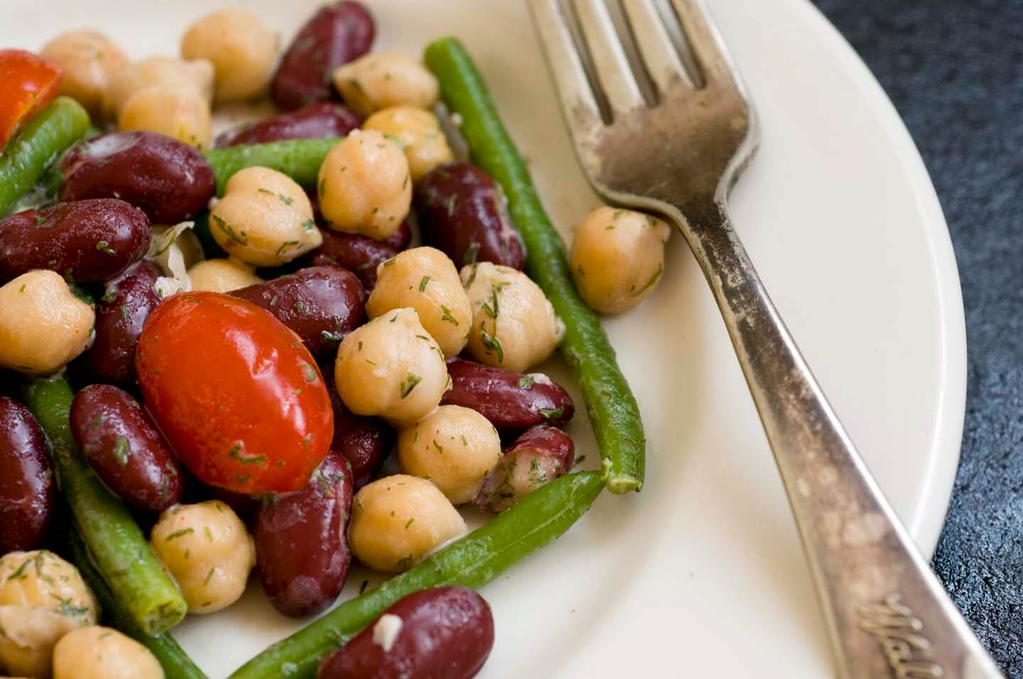 Three-bean salad with dill dressing | Homesick Texan