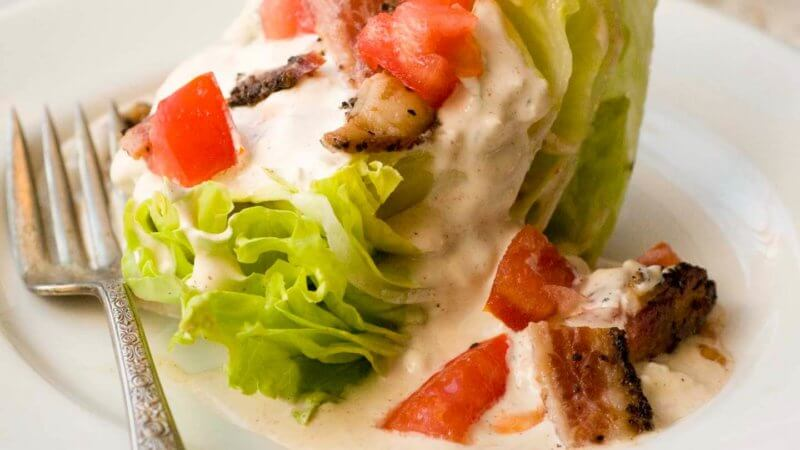 BLT wedge salad with chipotle blue cheese dressing | Homesick Texan