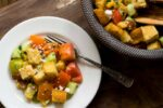 Tomato and cucumber salad with cornbread croutons | Homesick Texan