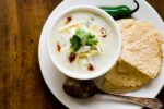 Buttermilk potato soup with bacon and roasted jalapeno | Homesick Texan