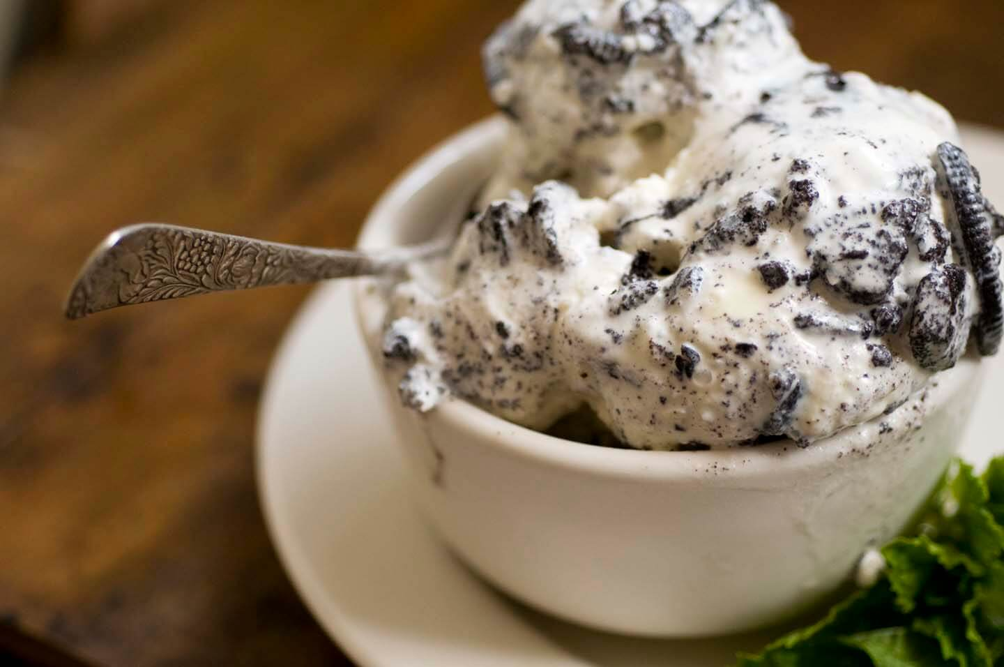 Mint chocolate cookies and cream ice cream | Homesick Texan