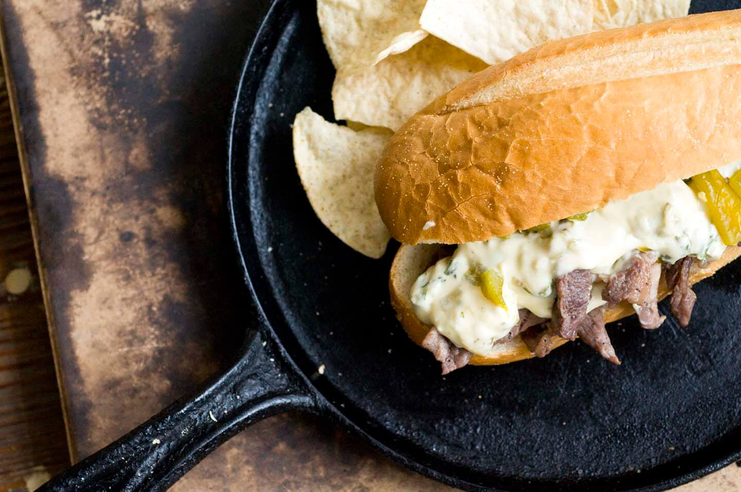 Green chile cheese steak | Homesick Texan