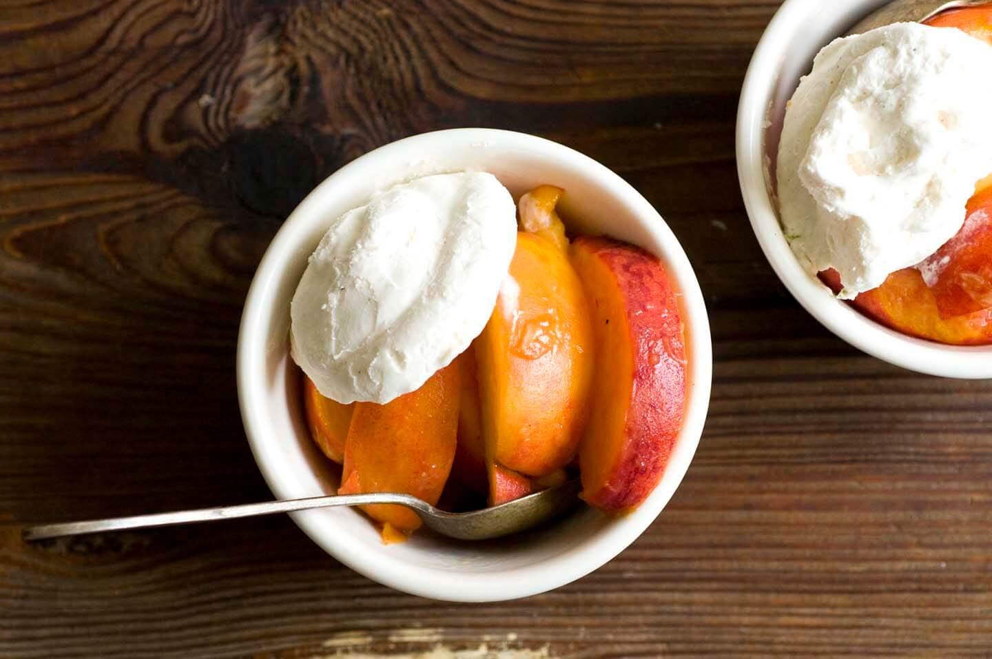Peaches and ginger-lime whipped cream | Homesick Texan