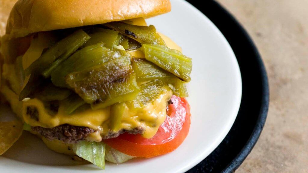 Green chile cheeseburgers | Homesick Texan