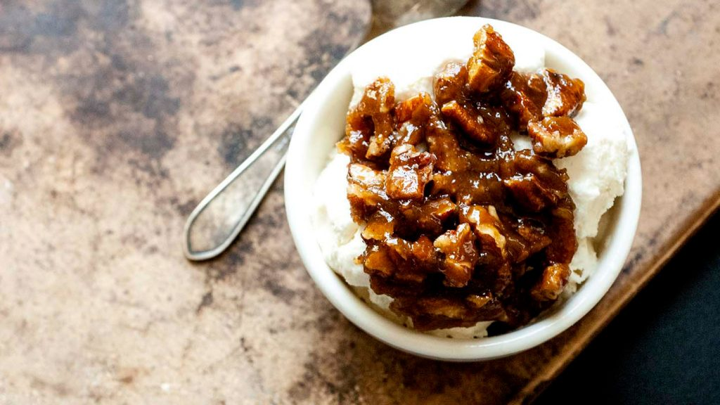Pecan praline ice cream topping | Homesick Texan