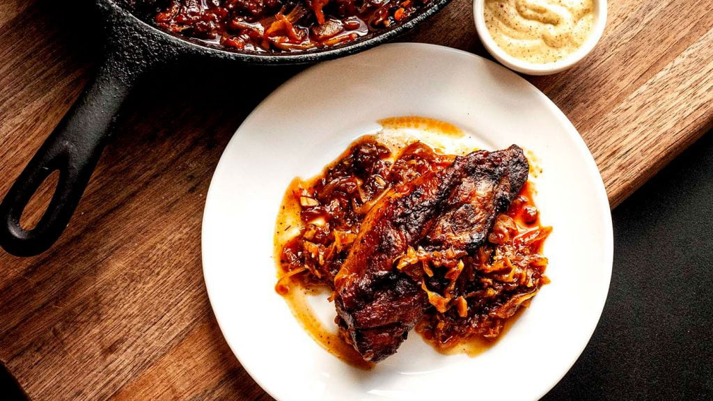 Country style pork ribs and sauerkraut | Homesick Texan